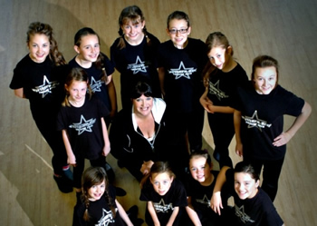 Members of the Northern Star Theatre Arts school who have been selected to play orphans in the production of Annie at the Sunderland Empire later this year.  Teacher Geri Feeney is pictured with, back row, left to right; Tia Zanetti, Rennea Hawthorn, Emilia Dove, Laura Simpson, Evangeline Ferguson, Gemma Dodsworth and Leah Cook. Front row; Beth Cutting, Katie Todd, Jenae Shaw and Lucy Robinson.